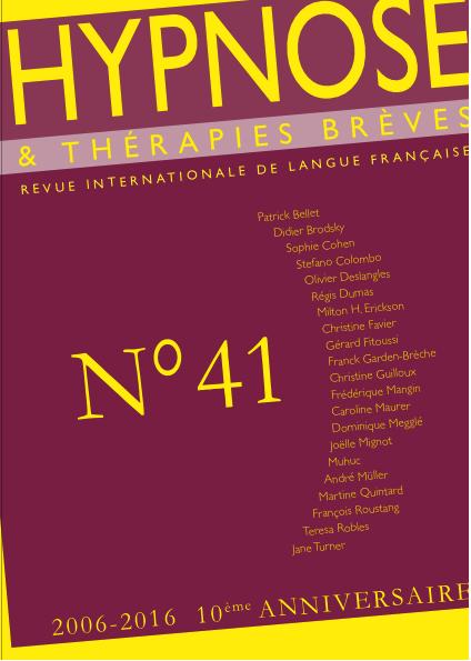 """""""La plage du temps"""". Dr Stefano COLOMBO Revue Hypnose et Thérapies Brèves"""
