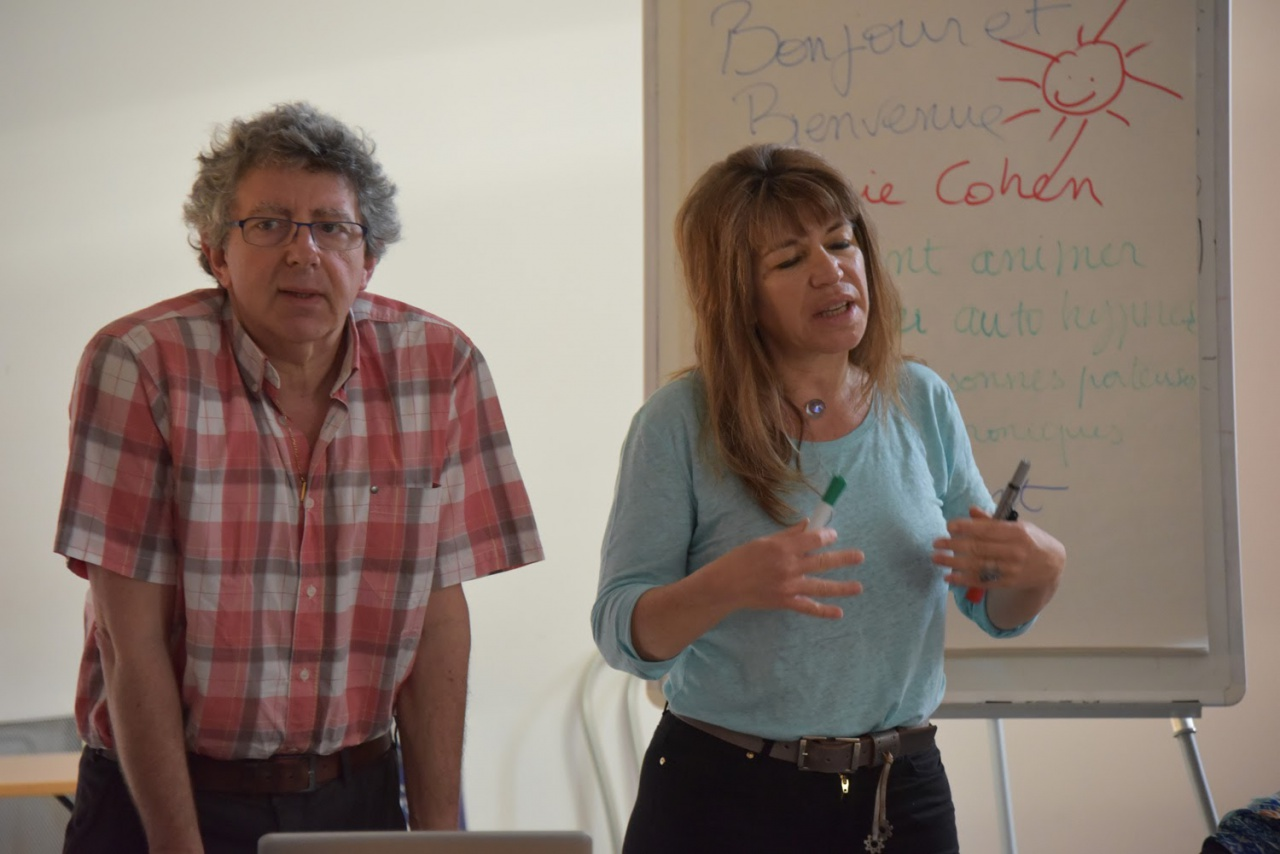 Laurent Gross et Sophie Cohen en formation à Paris
